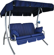 Comfort-Balkon-Schaukel (2-Sitzer) Design Faro blau