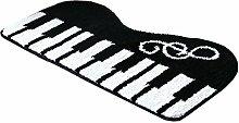 Comfysail Klavier Pflanzenfasern Waschmaschinenfest Bad Tür Teppich Bath Mat Fußmatte für Bad Schlafzimmer Wohnzimmer und Tür 45*80cm