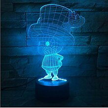 Comic 3D Blei Nachtlicht Tony Tony Chopper Lampe