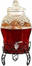 COMO Getränkespender aus Glas mit
