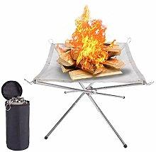 COMOOC Tragbare Feuerstelle für Camping, Camping