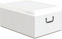 Compactor Anton Aufbewahrungsbox, Karton, weiß,