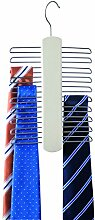 Compactor Home RAN7131 Krawattenbügel, Ecru, Holz und Metall, 16 x 1,2 x 30 cm