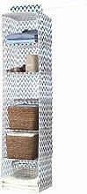 Compactor Ikat Stoffregal mit 6Einlegeböden für Kleidung, Blau / Weiß