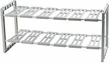COMPACTOR RAN7011 Ausziebahres Regal für Unterschränke, 48 x 30 x 40 cm, hell grau