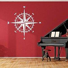 Compass Rose Der Sailor Vinyl Aufkleber für