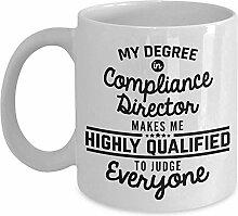 Compliance Director Kaffeebecher Lustig 11 Unzen