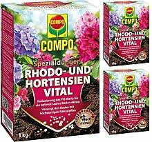 Compo GARDOPIA Sparpaket: 3 x 1kg Rhodo- und