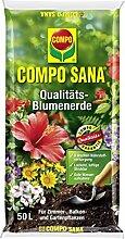 Compo Sana 50 Liter Qualitäts-Blumenerde für Zimmer- und Balkonpflanzen, Universalblumenerde für bis zu 8 Wochen Nährstoffversorgung, lockere und luftige Struktur, Art.-Nr. 1115124