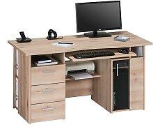 Computer Schreibtisch in Buche Tastaturauszug