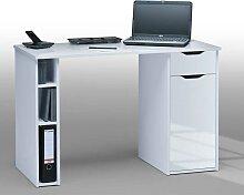 Computer-Schreibtisch in Hochglanz Weiß