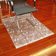 Computer-stuhl-matte soft glass protector mat computer chair protector mat kissen buch tisch und stuhl mat-D 90x180cm(35x71inch)