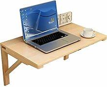 Computertisch aus massivem Holz Klapptisch Wand