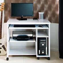Computertisch Cuuba Libre Jahnke Farbe: Weiß mit