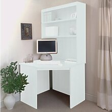 Computertisch Ebern Designs Farbe: Weiß
