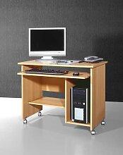 Computertisch in Buchefarben