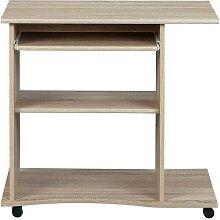 Computertisch in Eiche Sonoma Tastaturauszug