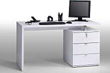Computertisch in Weiß 140 cm breit