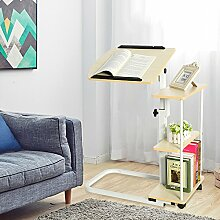 Computertisch Laptoptisch Beistelltisch Pflegetisch Überbett Tisch Betttisch Höheneinstellung