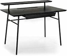 Computertisch Licata Ebern Designs Farbe: schwarz