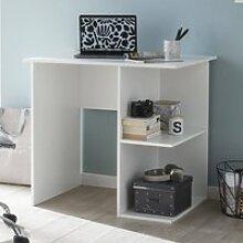 Computertisch mit Ablage 82cm weiß, Schreibtisch