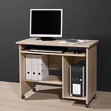 Computertisch mit Rollen Sonoma Eiche