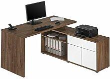Computertisch Schreibtisch MAJA in Eiche dunkel -
