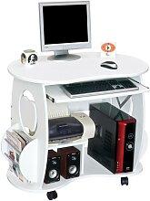 Computertisch Schreibtisch Pixel - Weiß