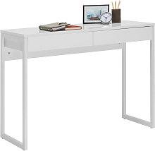 COMPUTERTISCH Weiß, Chromfarben