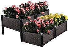 ComSaf Blumenkasten mit Füßen 50*50*25CM Clay