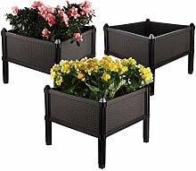 ComSaf Blumenkasten mit Füßen 50 * 50 * 25CM