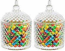 ComSaf Bonboniere Glas mit Deckel Rund Ф9,5cm