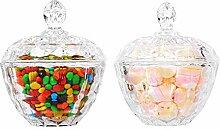 ComSaf Bonbonniere Glas mit Deckel Rund Ф11cm