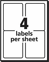 Comtechlogic® A4 weiß selbstklebend blanko Lieferung Adress-Etiketten Post Etikett Amazon FBA Strichcode Aufkleber kompatibel mit Inkjet & Laser Jet Drucker – 4 Etikett pro Seite