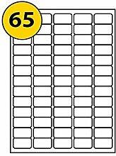 Comtechlogic® A4 weiß selbstklebend blanko Lieferung Adress-Etiketten Post Etikett Amazon FBA Strichcode Aufkleber kompatibel mit Inkjet & Laser Jet Drucker – 65 Etikett pro Seite