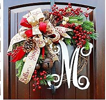 Comtervi 30 cm Weihnachtskranz Girlanden
