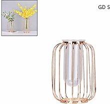 Comtervi Schmiedeeisen Vase Desktop Glas