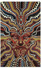 COMVIP Mandala Wandteppich Hippie Turquoise