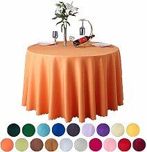 COMVIP® Runde Tisch Deckung,Tischdecke Tischtuch