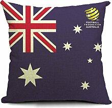 COMVIP Wohnung Zimmer Dekoration mit Flag Druck Sofakissenbezug Kissenbezüge kissenhüllen Zierkissenbezüge Flag # 006