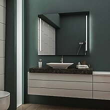 Concept2u LED Badspiegel Badezimmerspiegel Wandspiegel Bad Spiegel - 4000K neutralweiß 120 cm Breit x 80 cm Hoch Legato Licht Seitlich