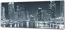 ConceptCrystal Glasaufdruck Wandkunstwerk 125 x 50