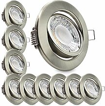 Conceptrun 10er Set LED Einbaustrahler flach