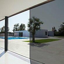 Concus-T Fenster Folie Spiegelfolie Selbstklebend mit Kleber Sonnenschutzfolie Tönungsfolie UV-Schutz 90x200cm