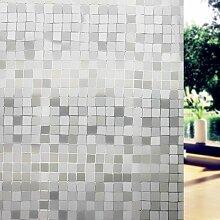 Concus-T Fensterfolie Selbstklebend Sichtschutzfolie Mosaik Design UV-Sonnenschutz 90*200cm