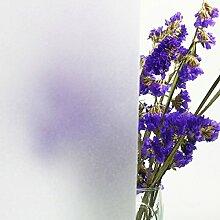 Concus-T Selbstklebend Statische Folie Fensterfolie Frosted Sichtschutzfolie Blickdicht Kein Kleber Wiederverwendbare Anti-UV Sonnenschutzfolie,Dekorativ  für Bad Schlafzimmer Wohnzimmer Büro Glas Fster Türen Privatsphäre Milchglasfolie 45x200cm