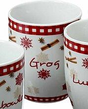 condecoro Kaffeetasse - Weihnacht - Porzellantasse mit Löffel, in 4 Ausführungen, Ausführung:C