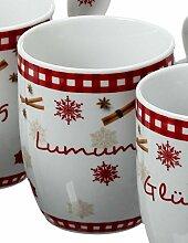 condecoro Kaffeetasse - Weihnacht - Porzellantasse mit Löffel, in 4 Ausführungen, Ausführung:D