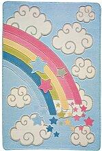 Confetti Kids / Kinderteppich / Spielteppich / Babyteppich / Regenbogen / Bunt / Rutschfest / Waschbar / 100x150 cm /Weich / OEKOTEX