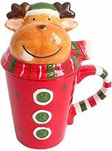 CONGCONGNANIAN Keramik-Weihnachtsbecher Stereo